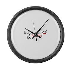 Edward & Me Large Wall Clock