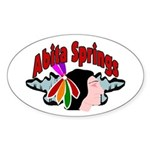 Abita Springs Oval Sticker