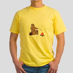 Camping With Bigfoot Yellow T-Shirt