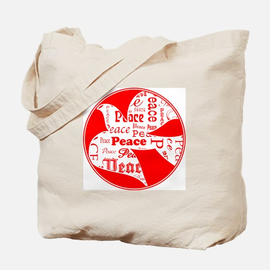 Red Dove of Peace Tote Bag