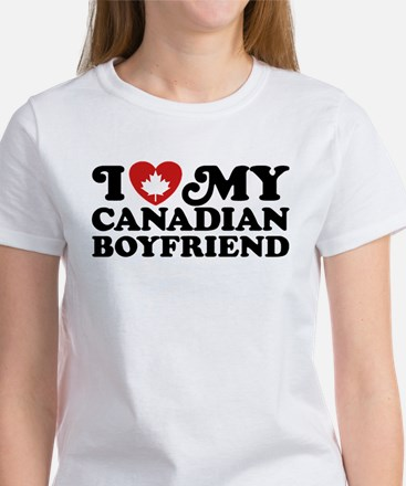 I Love My Canadian Boyfriend Women's T-Shirt