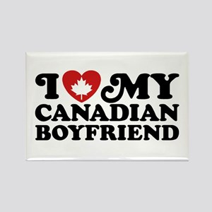 I Love My Canadian Boyfriend Rectangle Magnet