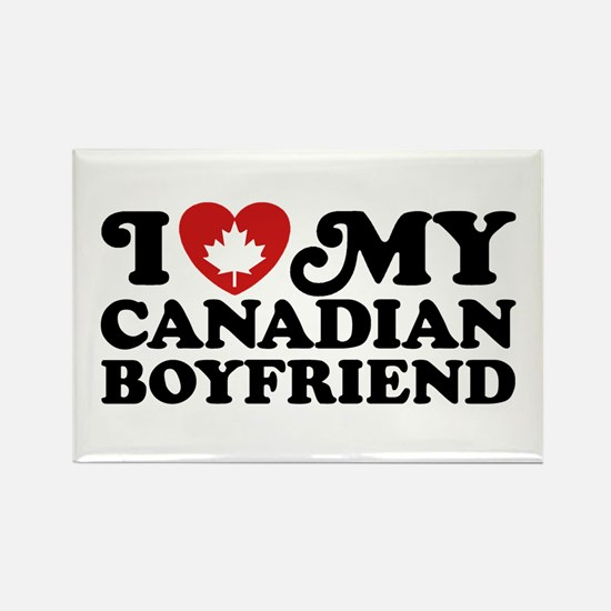 I Love My Canadian Boyfriend Rectangle Magnet