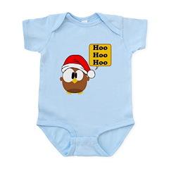 Santa Owl Infant Bodysuit