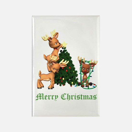 A VERY DEER CHRISTMAS Rectangle Magnet