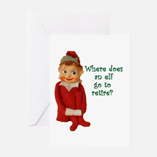 Cute Vintage Elf Ornament Greeting Card