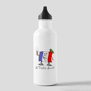 A Votre Sante Stainless Water Bottle 1.0L