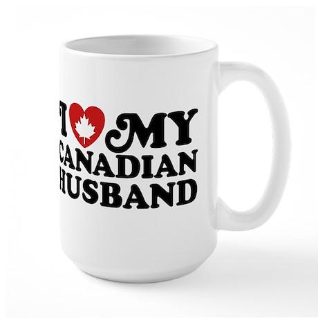 I Love My Canadian Husband Large Mug