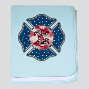 Firefighter USA baby blanket