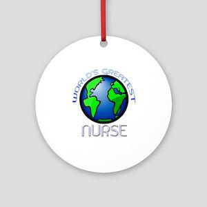 World's Greatest Nurse Ornament (Round)