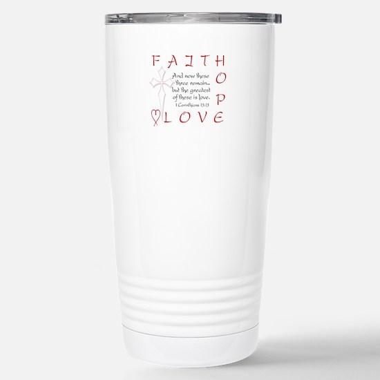 Greatest Is Love Stainless Steel Travel Mug