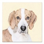 American Foxhound Square Car Magnet 3