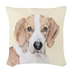 American Foxhound Woven Throw Pillow