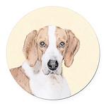 American Foxhound Round Car Magnet