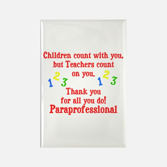 Paraprofessional Rectangle Magnet