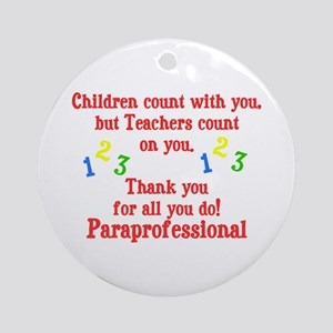 Paraprofessional Ornament (Round)