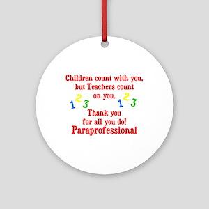 Paraprofessional Ornament (Round)