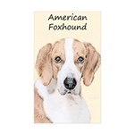 American Foxhound Sticker (Rectangle 50 pk)