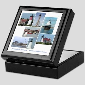 Massachusetts Lighthouses Keepsake Box