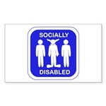 Socially Disabled Sticker (Rectangle)