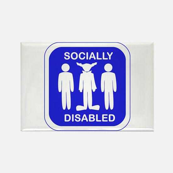 Socially Disabled Rectangle Magnet