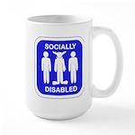 Socially Disabled Large Mug