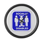 Socially Disabled Large Wall Clock