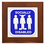 Socially Disabled Framed Tile