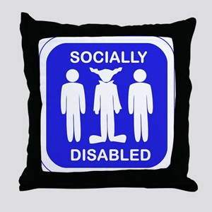 Socially Disabled Throw Pillow