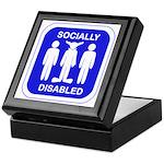 Socially Disabled Keepsake Box