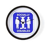 Socially Disabled Wall Clock