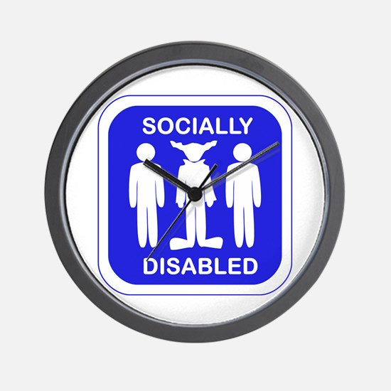 Socially Disabled Wall Clock