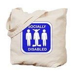 Socially Disabled Tote Bag