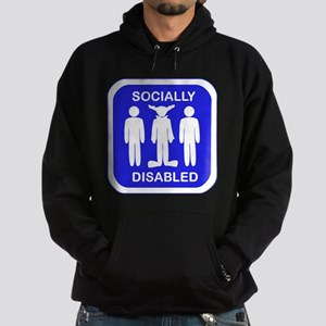 Socially Disabled Hoodie (dark)