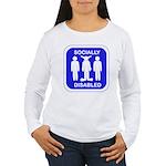 Socially Disabled Women's Long Sleeve T-Shirt