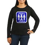 Socially Disabled Women's Long Sleeve Dark T-Shirt