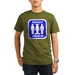 Socially Disabled Organic Men's T-Shirt (dark)