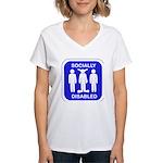 Socially Disabled Women's V-Neck T-Shirt