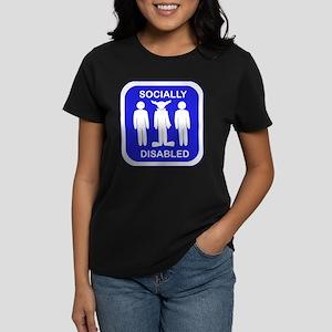 Socially Disabled Women's Dark T-Shirt