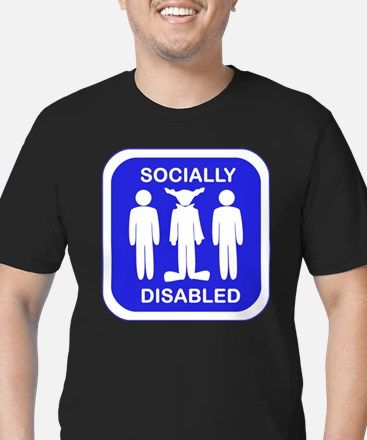 Socially Disabled Men's Fitted T-Shirt (dark)