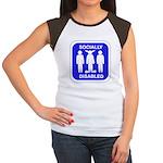 Socially Disabled Women's Cap Sleeve T-Shirt