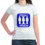 Socially Disabled Jr. Ringer T-Shirt
