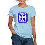 Socially Disabled Women's Light T-Shirt