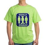 Socially Disabled Green T-Shirt
