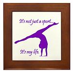 Gymnastics Framed Tile