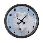 Arctic Fox Large Wall Clock