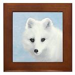 Arctic Fox Framed Tile
