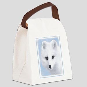 Arctic Fox Canvas Lunch Bag