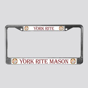 Masonic York Rite License Plate Frame