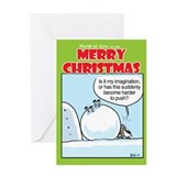Christmas cow Greeting Cards